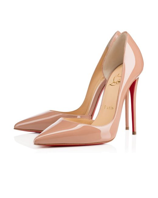 purple louboutins shoes - Christian louboutin Iriza Patent Leather Half D\u0026#39;Orsay Pumps in ...