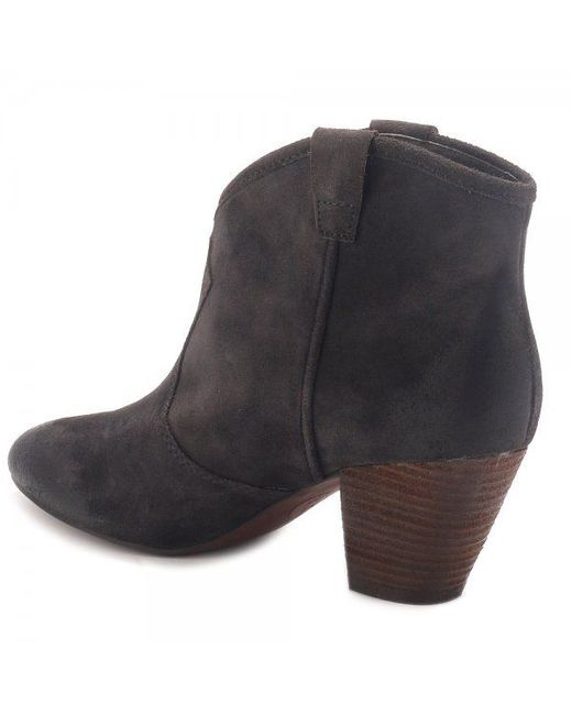 ash jalouse classic suede ankle boots in brown lyst