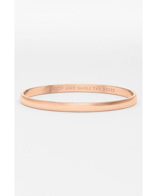kate spade new york | Pink 'idiom - Stop And Smell The Roses' Bangle | Lyst