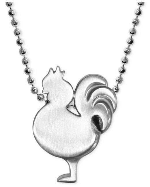 Alex Woo | Metallic Little Rooster Zodiac Pendant Necklace In Sterling Silver | Lyst