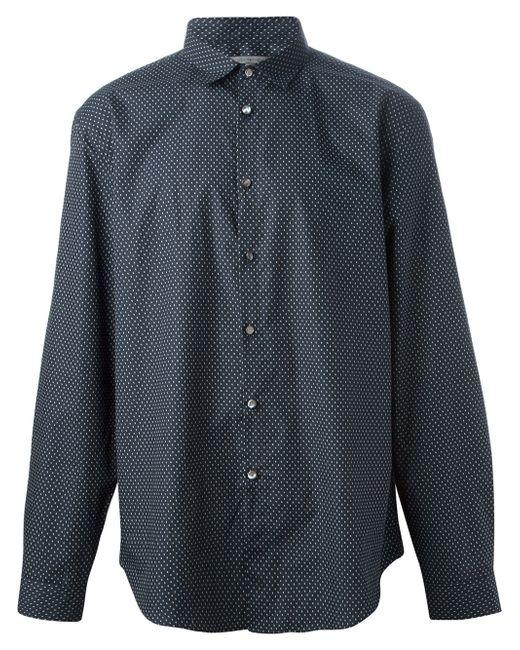 John Varvatos | Blue Slim-fit Check Dress Shirt for Men | Lyst