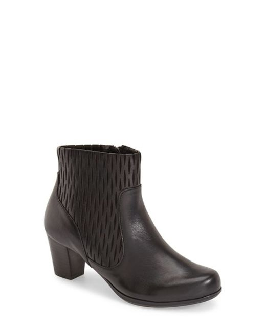 Aetrex | Black Shauna Leather Boots | Lyst