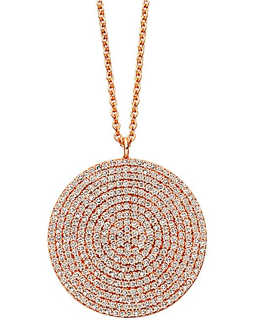 Astley Clarke | Pink Icon Large 24ct Gold Vermeil Pendant Necklace | Lyst