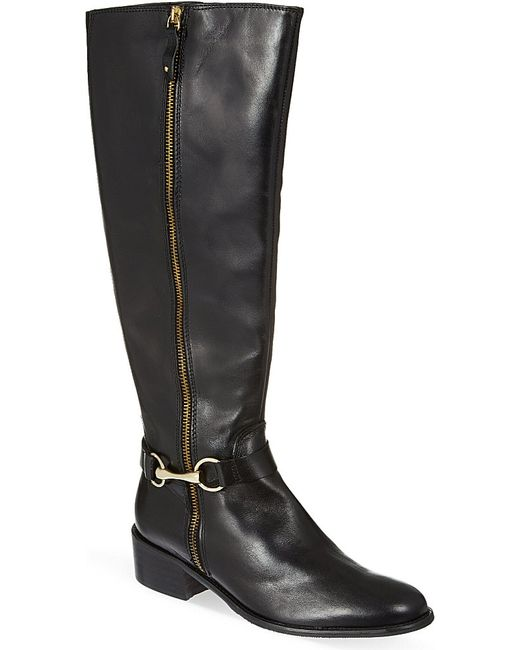 carvela kurt geiger waffle knee high boots in black lyst