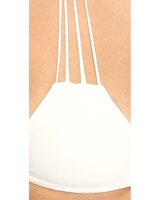 Mikoh Swimwear | White Banyans String Racer Back Top | Lyst