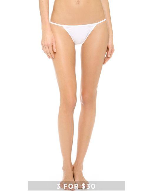 White String Bikini 13
