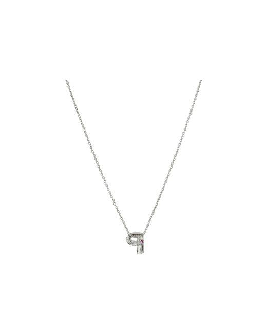 Roberto Coin | Metallic Diamond Initial Necklace | Lyst