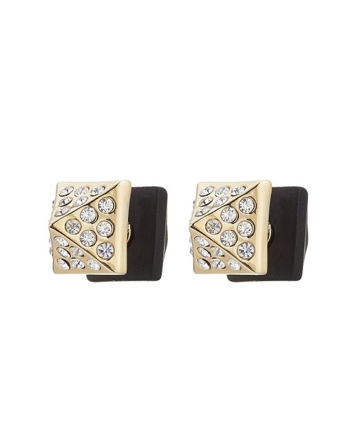 Marc By Marc Jacobs | Metallic Crystal Embellished Earrings - Black | Lyst