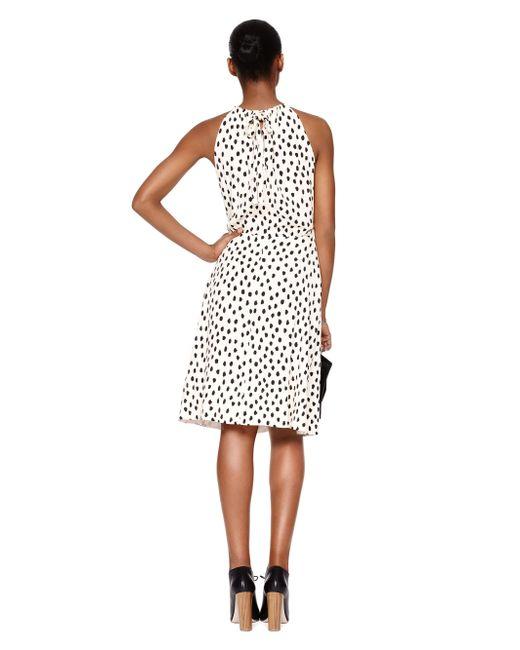 Kate Spade | Pink Leopard Dot Tie Back Dress | Lyst