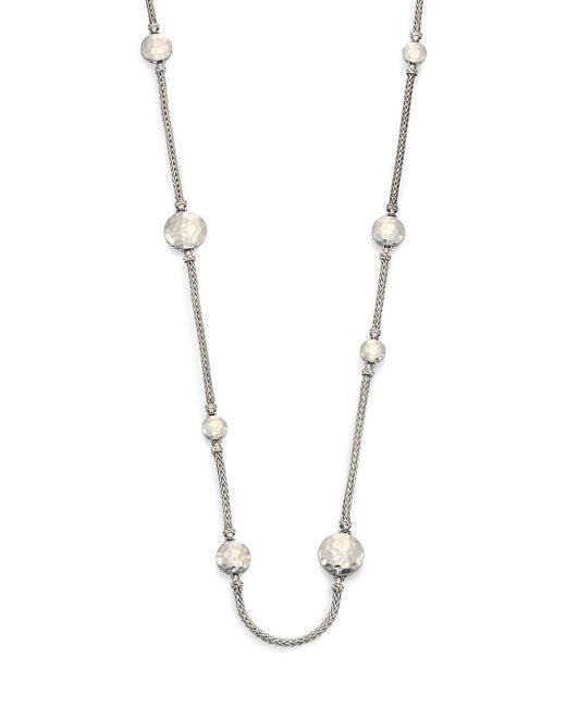 John Hardy | Metallic Sautoir Long Mixed Link Necklace | Lyst