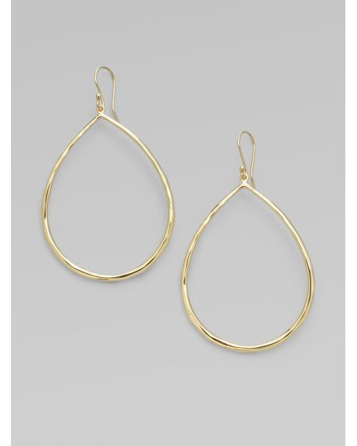 Ippolita | Metallic Glamazon Sculptural Metal 18k Yellow Gold Large Teardrop Earrings | Lyst