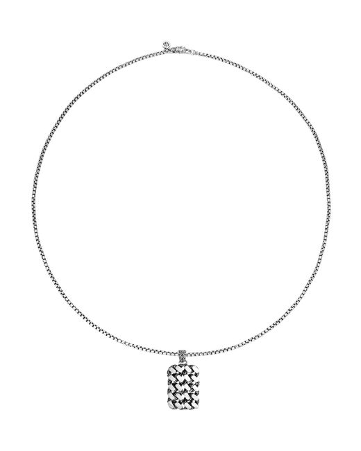John Hardy | Metallic Large Chain Dog Tag Pendant Necklace | Lyst