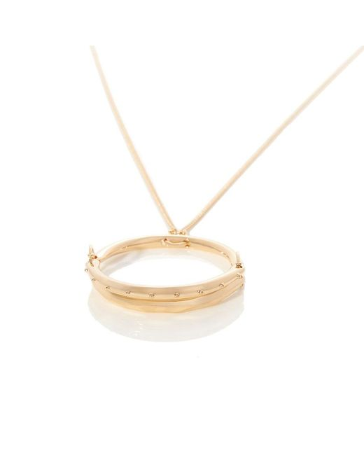 Chloé Q coin pendant necklace - Metallic gxgPIG