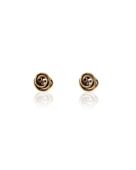 Oscar de la Renta   Pink Wire Rose Button Earring   Lyst