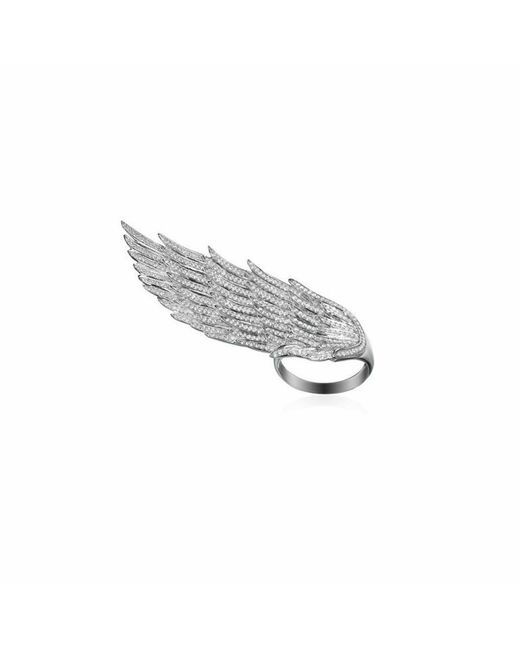 AS29 - White Long Wing Ring - Lyst