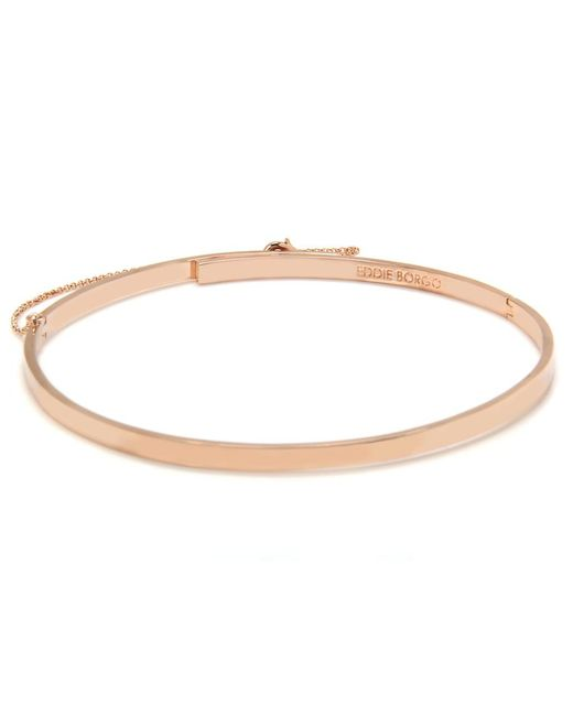 Eddie Borgo   Pink Extra Thin Safety Chain Choker In Rose Gold   Lyst
