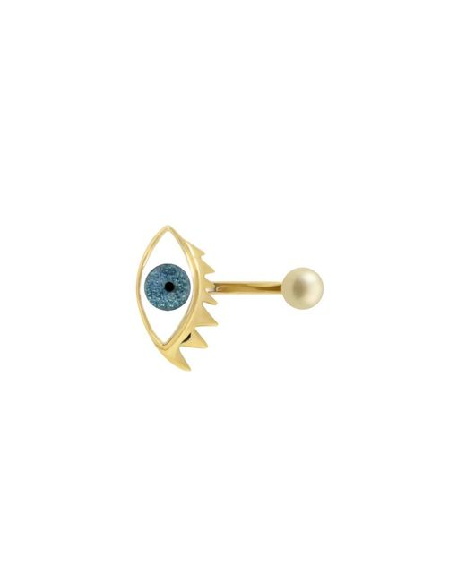 Delfina Delettrez | Eye Piercing Ring In Glittered Light Blue | Lyst