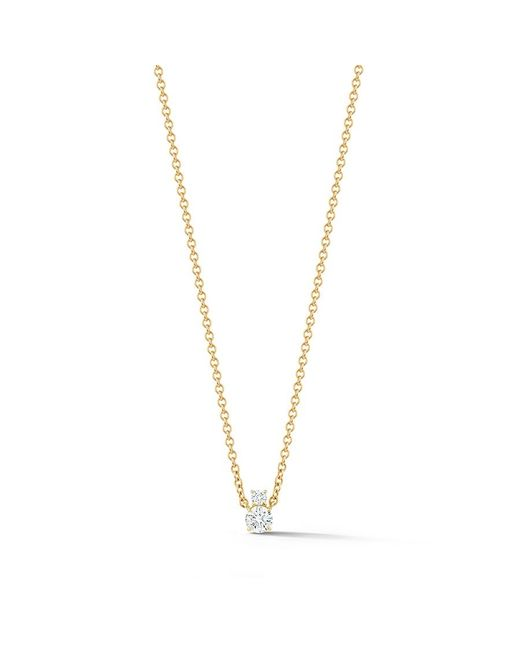Jemma Wynne | Prive Luxe Solitaire Necklace In Yellow Gold | Lyst
