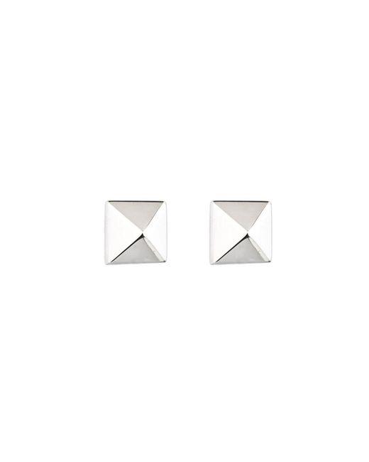 Eddie Borgo | Metallic Pyramid Studs In Silver | Lyst