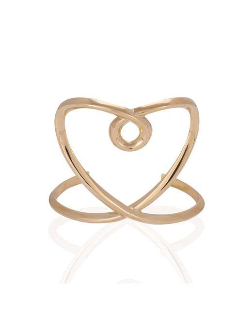 Chloé | Metallic Twisted Heart Cuff Bracelet | Lyst