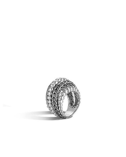 John Hardy   Metallic Classic Chain Dome Ring   Lyst