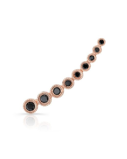 Anne Sisteron - Metallic 14kt Rose Gold Black Diamond Shooting Star Ear Climber - Lyst