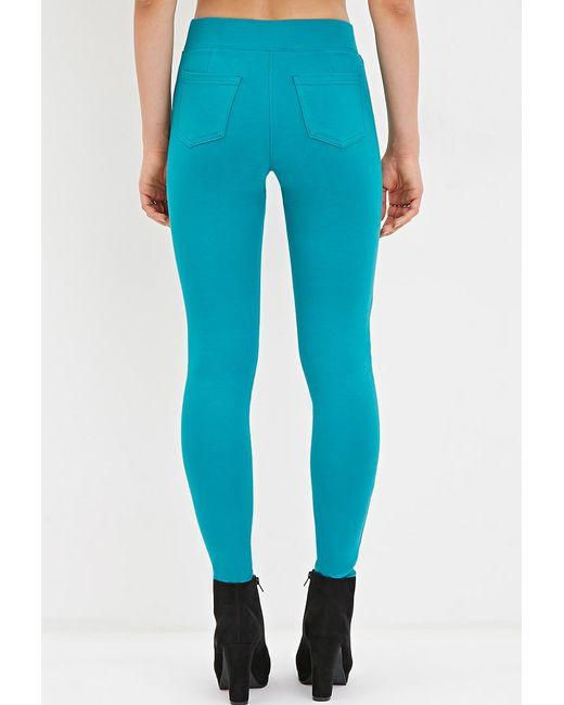 Forever 21 | Blue Cotton-blend Leggings | Lyst