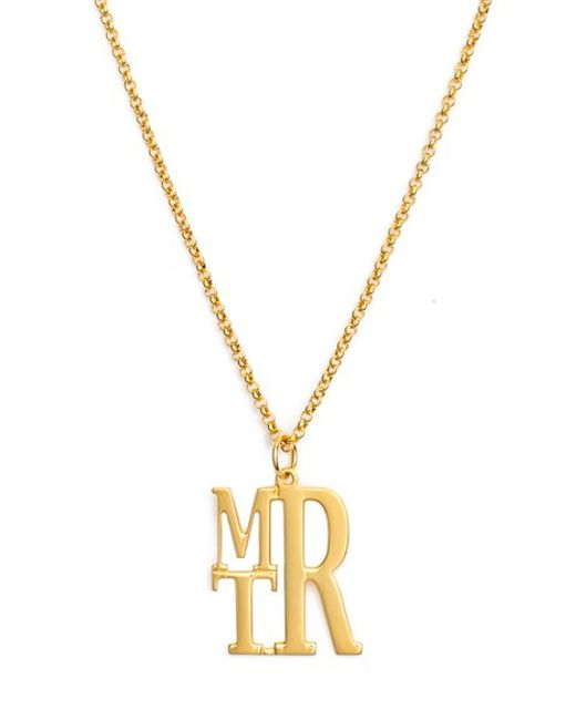 Argento Vivo | Metallic Personalized Initial Pendant Necklace | Lyst