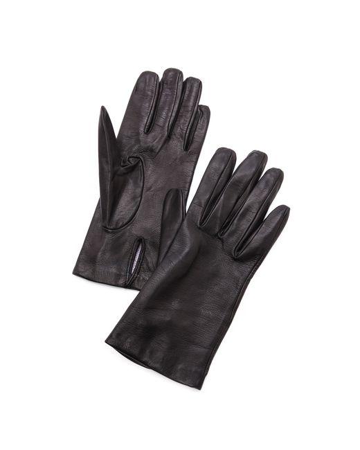 Carolina Amato | Black Full Leather Gloves | Lyst