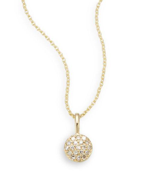 Saks Fifth Avenue | Metallic Diamond & 14k Yellow Gold Necklace | Lyst