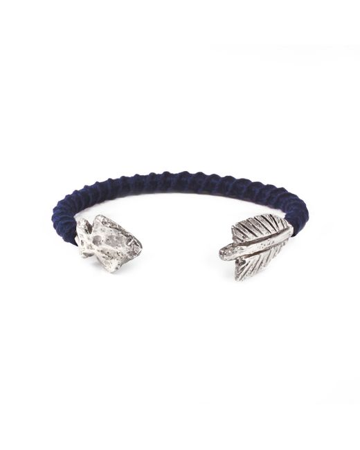 Lulu Frost | George Frost G. Frost Wrapped Arrowhead Cuff Blue for Men | Lyst