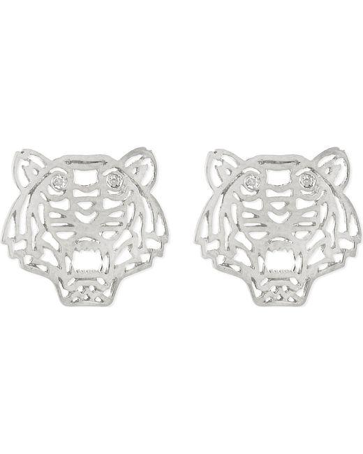 KENZO | Metallic Tiger Head Earrings | Lyst