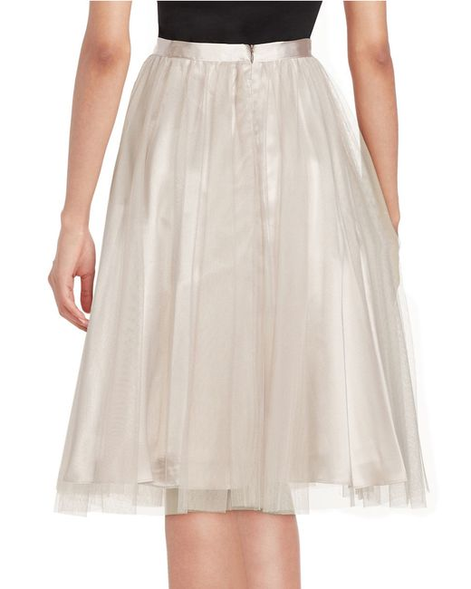 marina tulle a line skirt in multicolor lyst