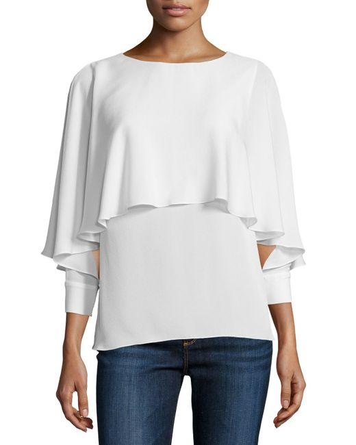 Rachel Zoe | White Reine 3/4-sleeve Tiered Top | Lyst