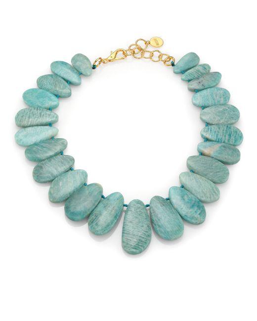 Nest | Blue Amazonite Bib Statement Necklace | Lyst