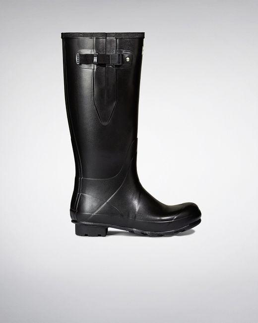 Hunter | Black Men's Norris Field Side Adjustable Neoprene Lined Wellington Boots for Men | Lyst