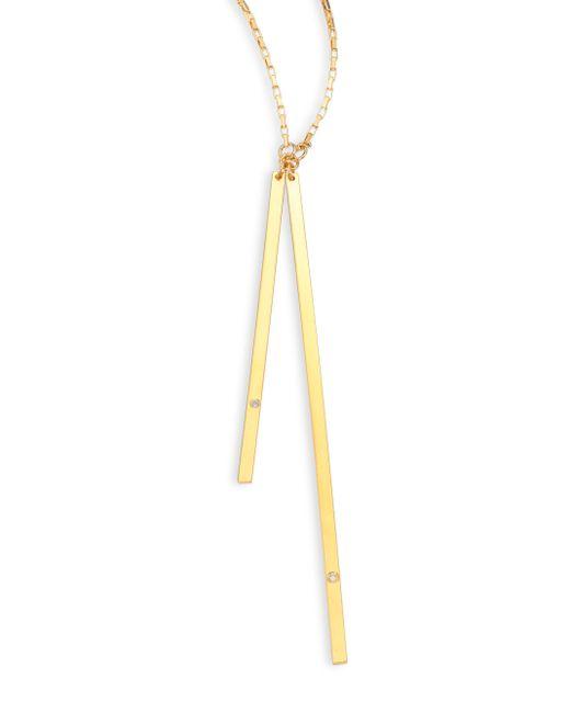 Jennifer Zeuner | Yellow Peyton Diamond Lariat Necklace | Lyst