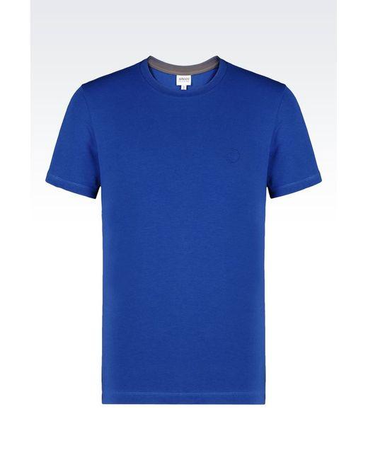 Armani print t shirt in blue for men lyst for Vista print tee shirt