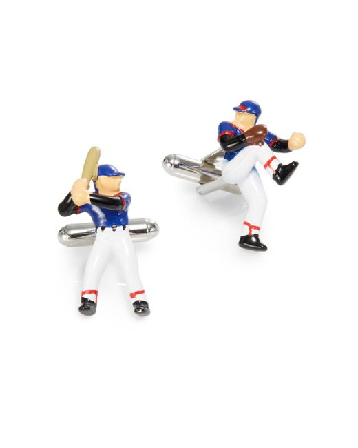 Saks fifth avenue Baseball Player Cuff Links in Multicolor for Men ...