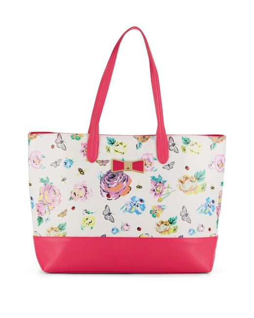 Betsey Johnson Be My Bow Floral-print Tote | Lyst