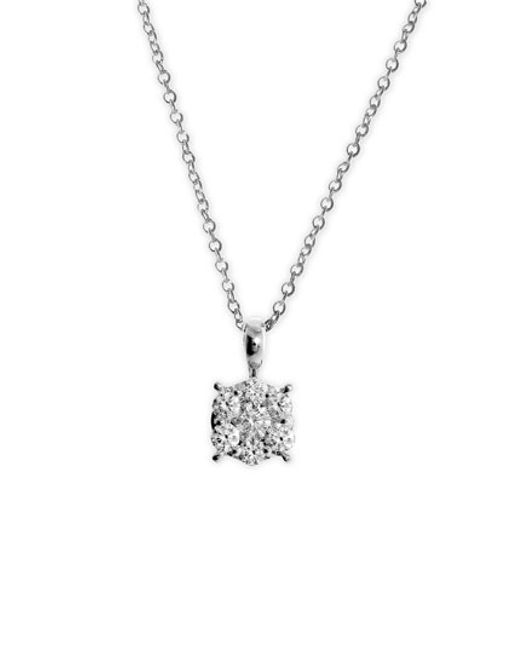 Bony Levy | White 'lucky 7' Diamond Pendant Necklace (nordstrom Exclusive) | Lyst