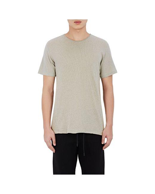Rag Bone Men 39 S Pinstriped Jersey T Shirt In Gray For Men