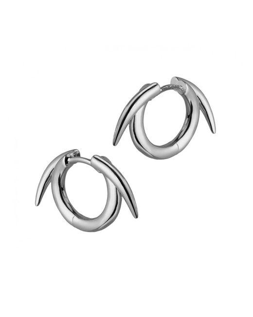 Shaun Leane | Metallic Sterling Silver Thorn Hoop Earrings | Lyst
