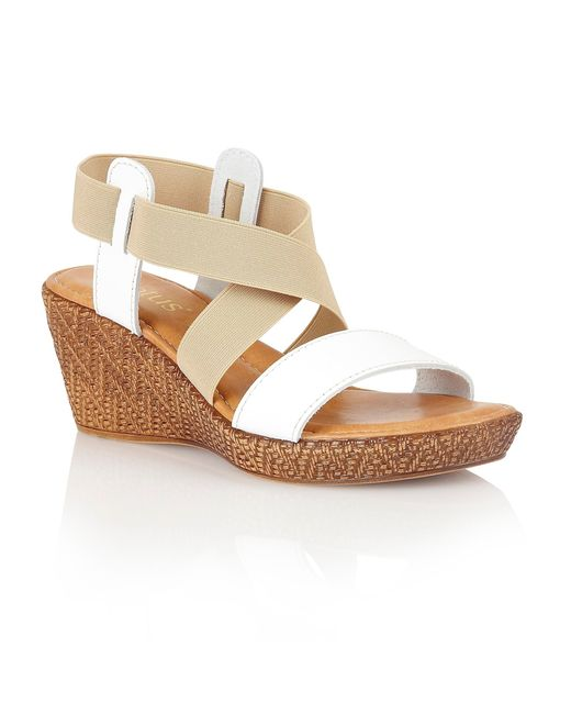 Lotus | White Emiliano Wedge Sandals | Lyst