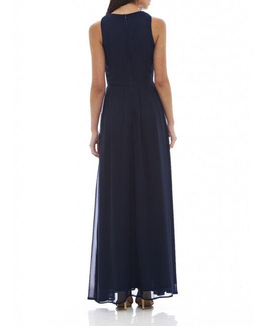 AX Paris   Blue Lace Top Maxi Dress   Lyst