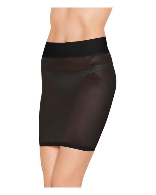 Wolford | Black Sheer Touch Forming Skirt | Lyst
