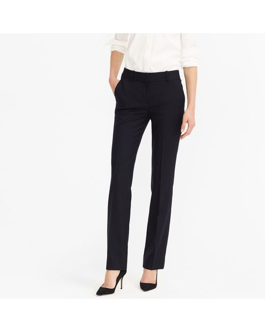 J.Crew | Blue Campbell Trouser In Pinstripe Super 120s Wool | Lyst