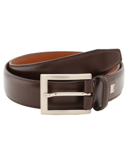 johnston murphy dress belt in brown for lyst