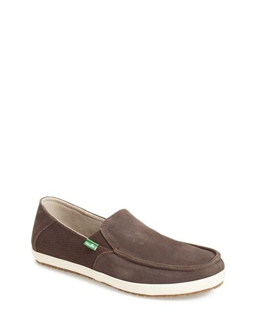 Sanuk | Brown 'casa' Slip-on for Men | Lyst