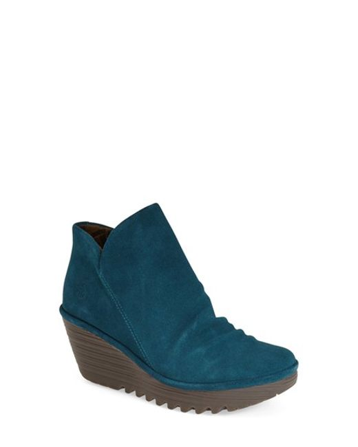 Fly London | Blue 'yip' Wedge Bootie | Lyst